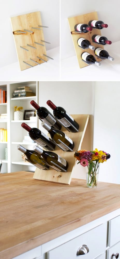 Floating Bottles Illusion Rack