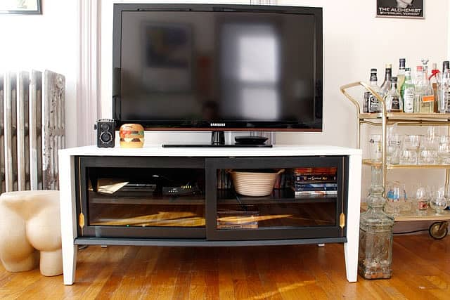 Rescued TV Console DIY