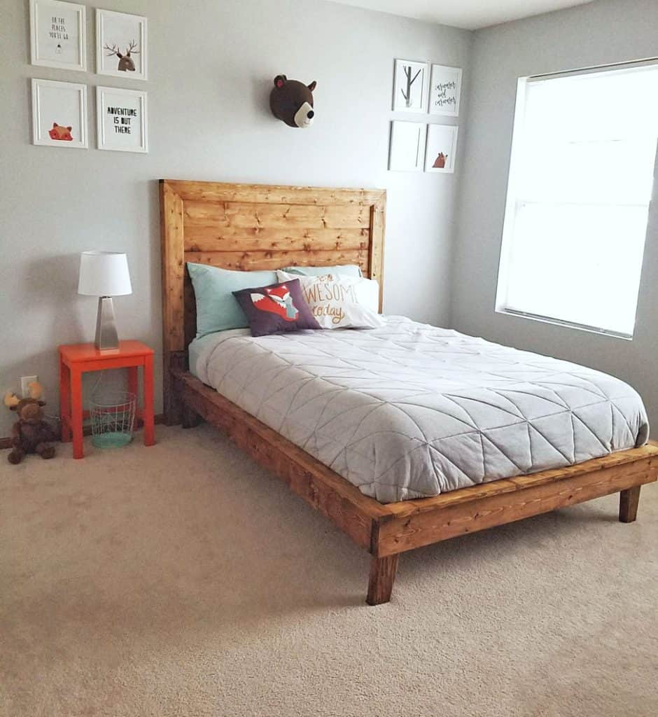 Beautiful Basic Wooden Bed