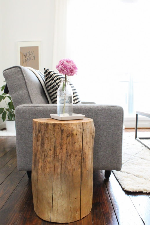 Ombre Stump Side Table
