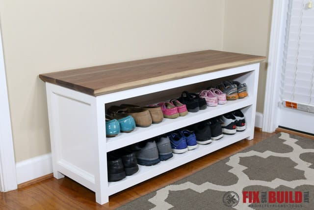 Polished & Clean Shoe Storage Bench