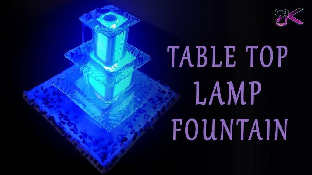Tabletop Lamp Fountain