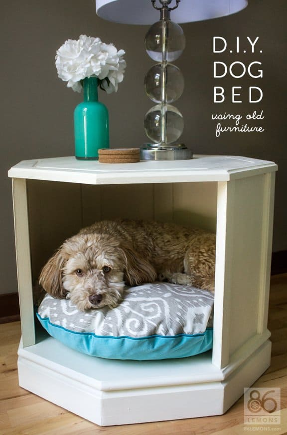 DIY Dog Bed Table