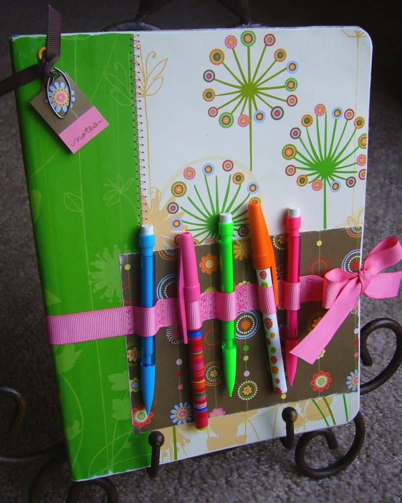 The Ribbon Pencil Holder Notebook