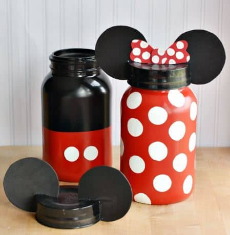 Mickey And Minnie Coin Jars