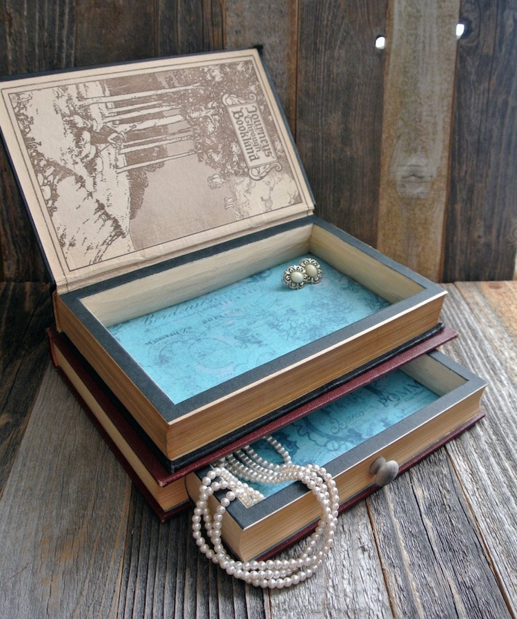Antique Book Jewelry Box