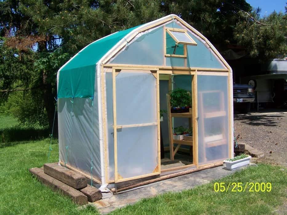 Repurposed Carport Greenhouse