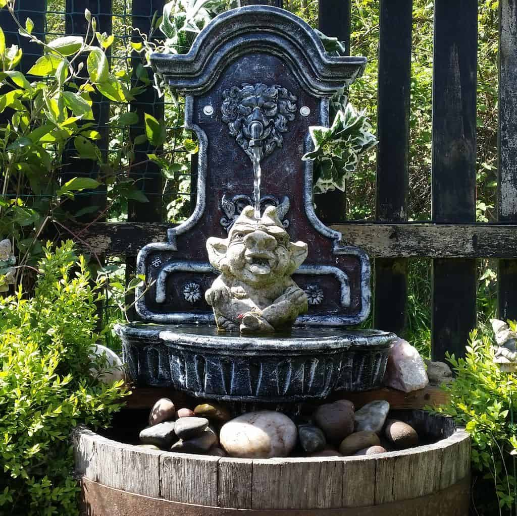 Upcycled Cast Iron Sink Fountain