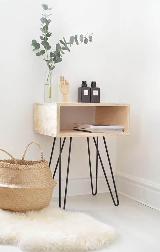 DIY Mid-Century Wood Box Stand