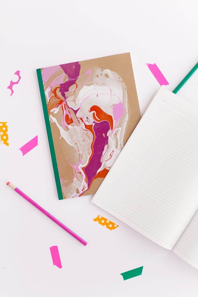 Marbled Colors Notebook Covers