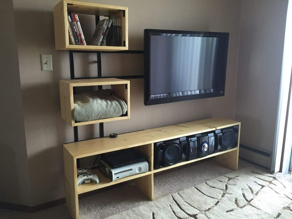 Multi-Shelf Floating TV Stand Console
