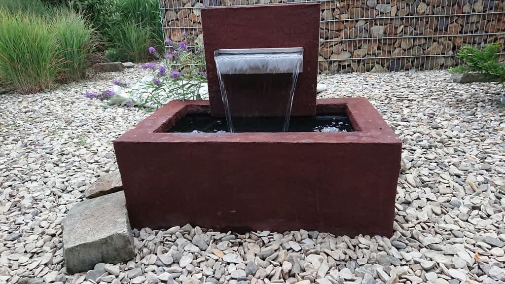 Oxidized Concrete Fountain