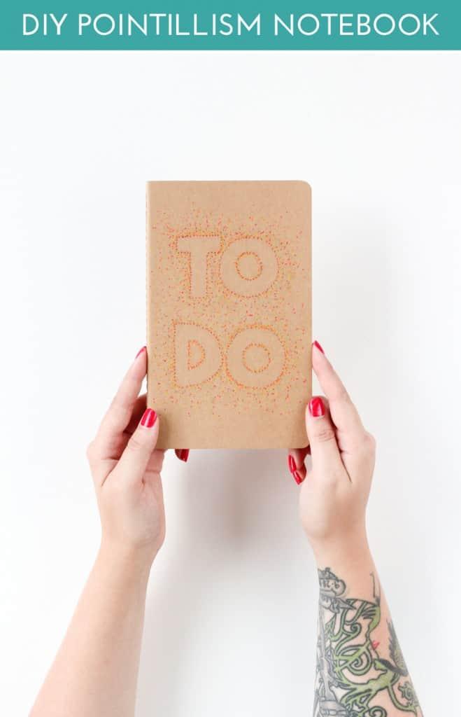 Sharpie Pointillism Notebook Covers