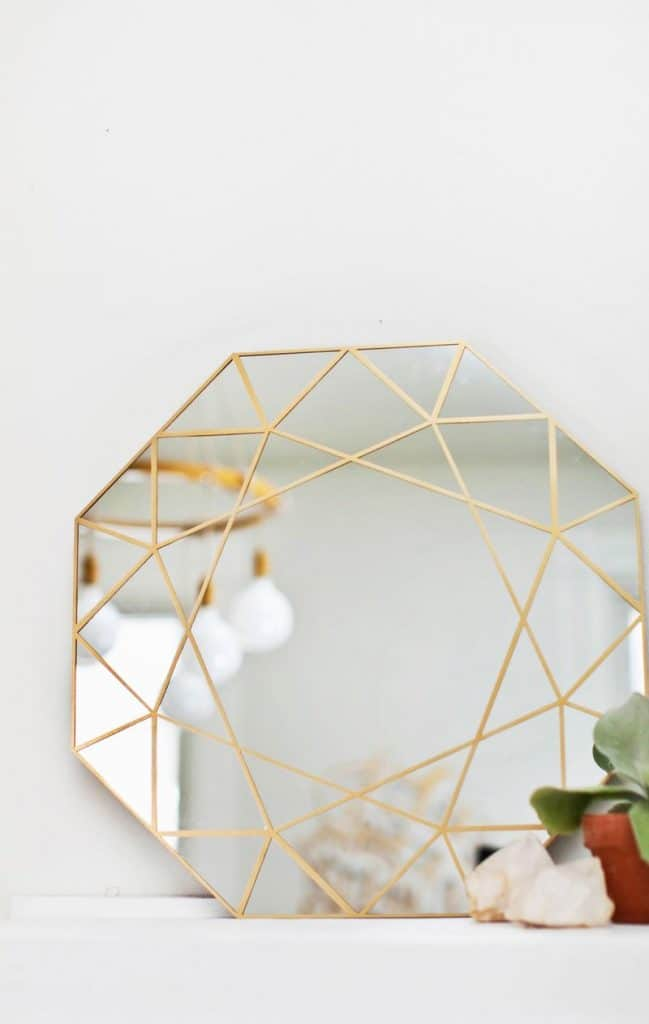 Multi-Facet Gilt Mirror