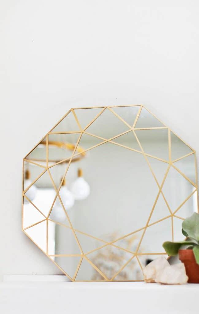 Multi-Facet Gilt Mirror