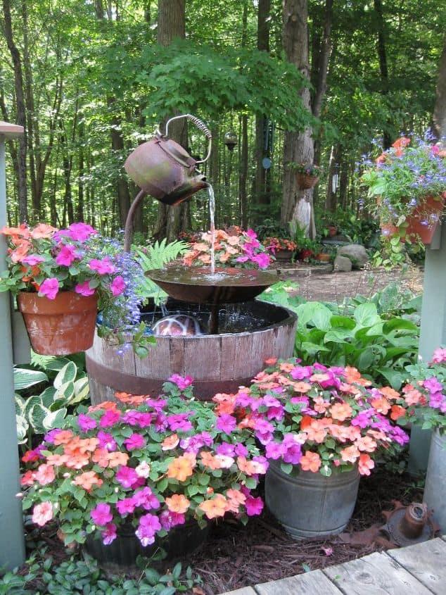 Tea Kettle Fountain