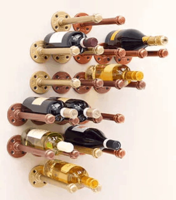 Metallic Wine Rack