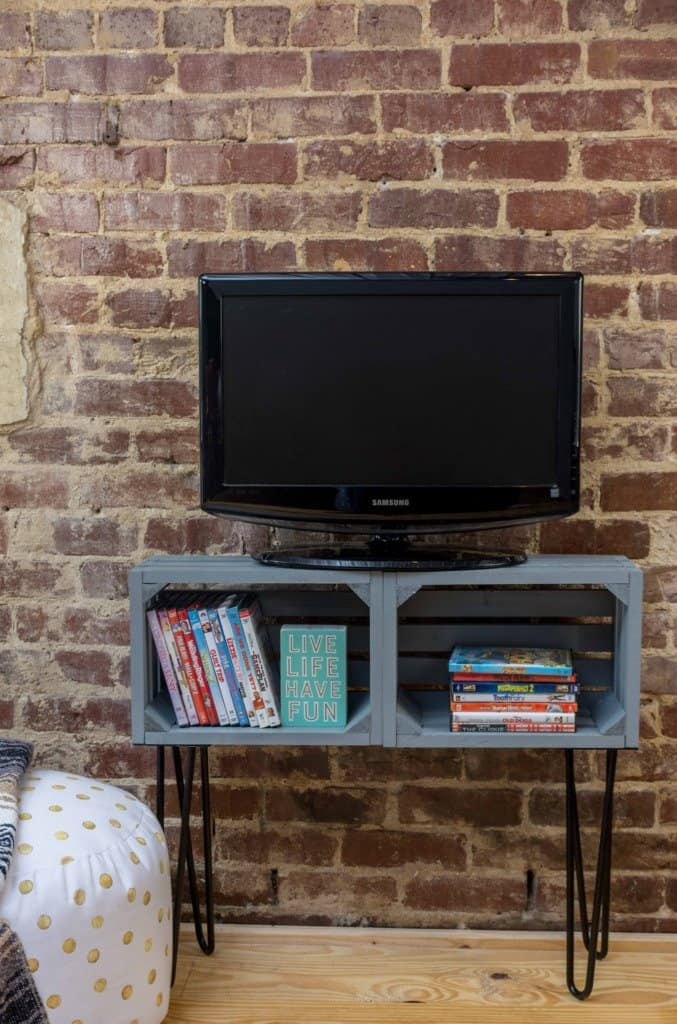 Pin Leg Crate TV Stand