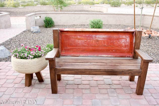 Upcycled Tailgate Bench