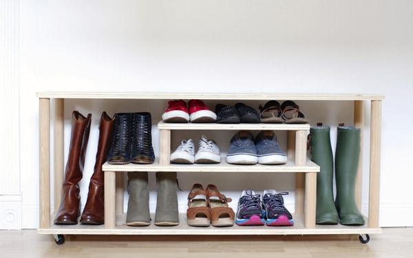 Mudroom Shoe Rack