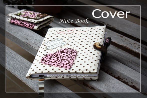 Sewn Notebook Cover With Latch And Pen Holder