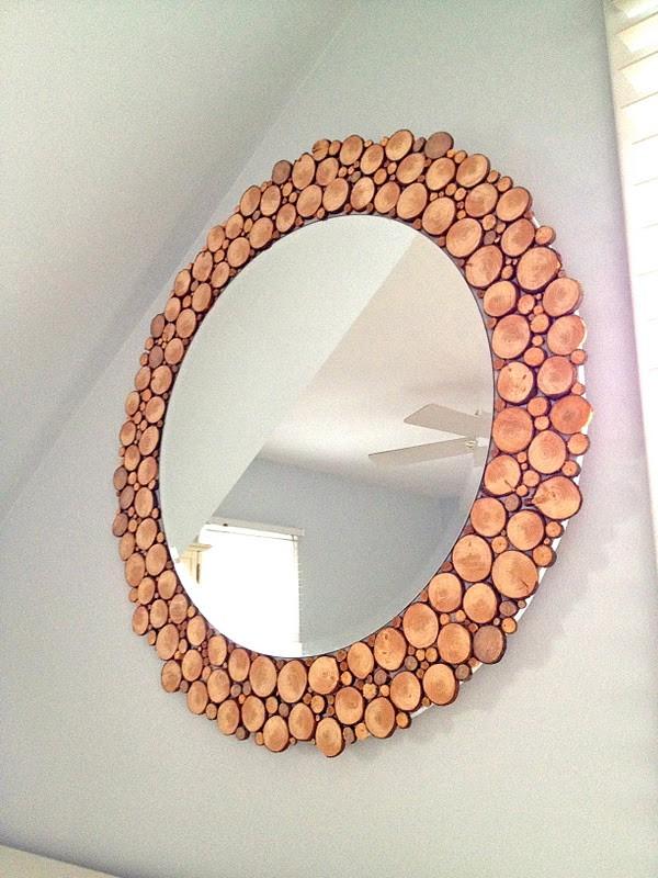 Wood Slice Mirror Frame