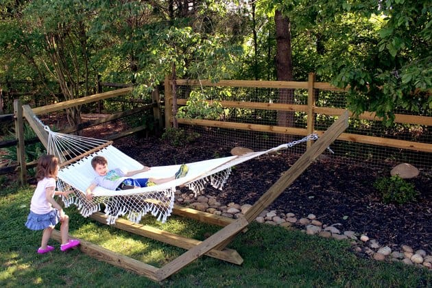 Free-Standing Wooden Hammock Stand