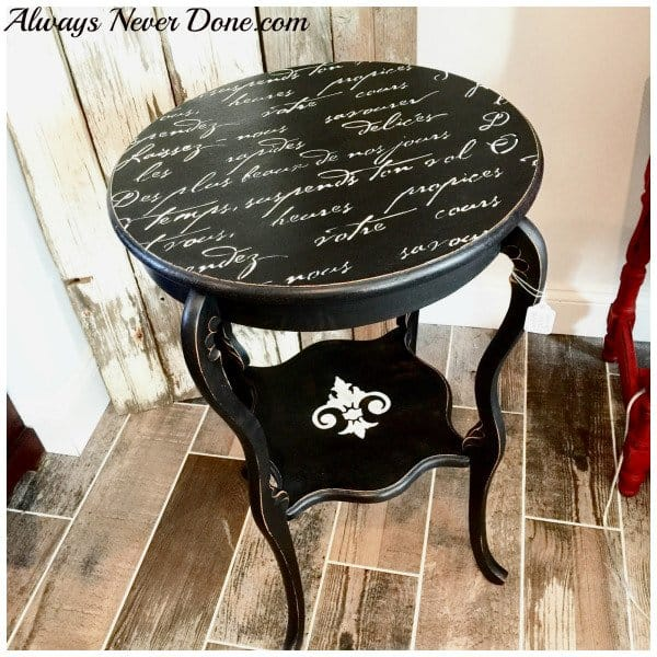 French Poem Side Table Upgrade