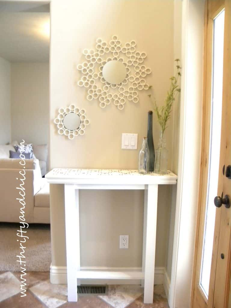 PVC Pipe Mirror Frame