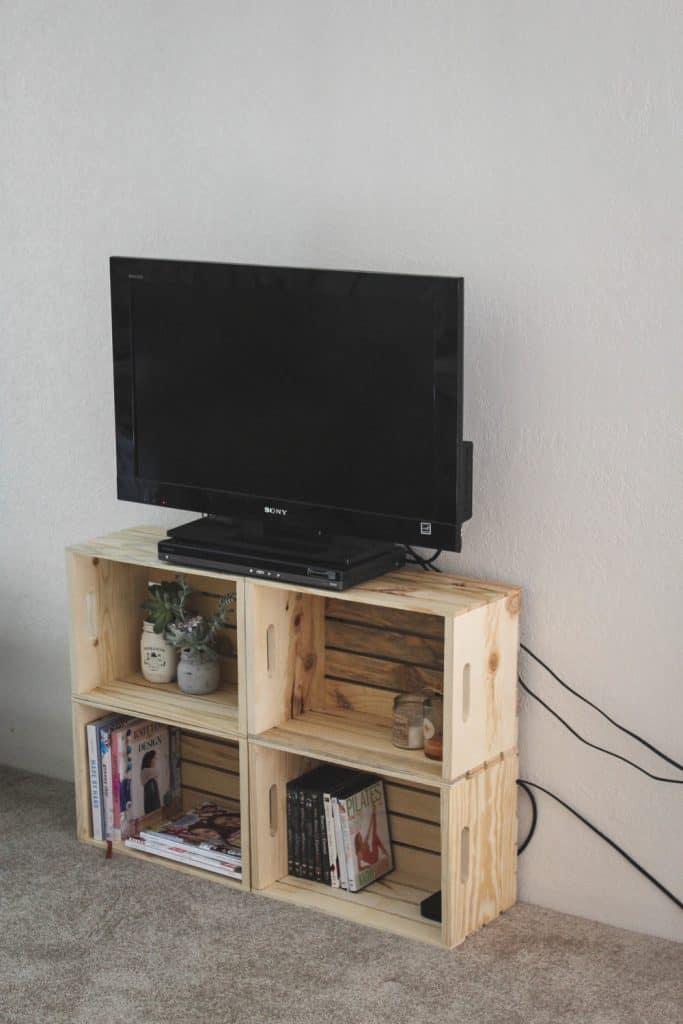 Repurposed Crate Stand