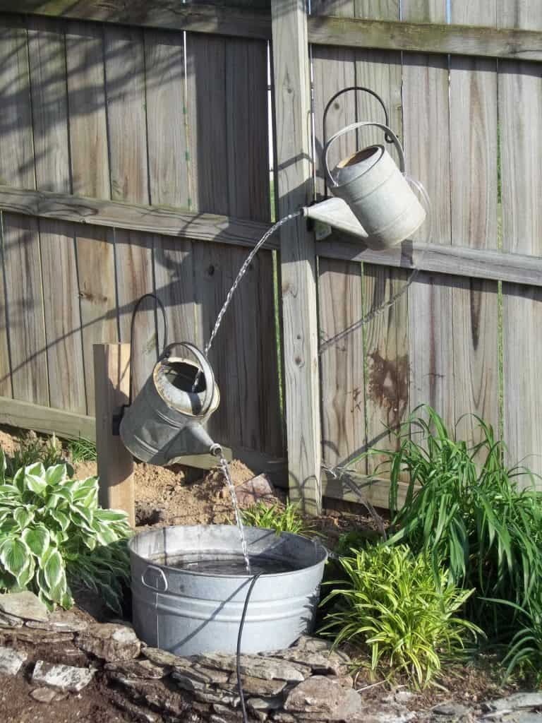 Watering Can Water Feature