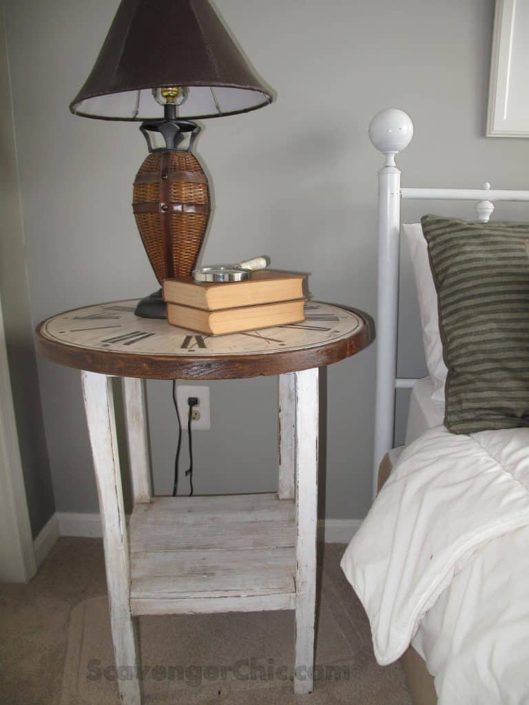 Clock Top Side Table