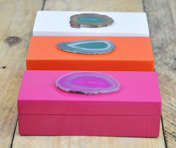 Mini Agate Slice Jewelry Box