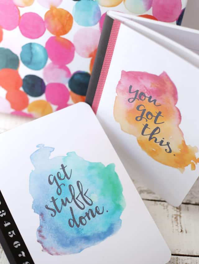 Printables Watercolor Notebook Cover