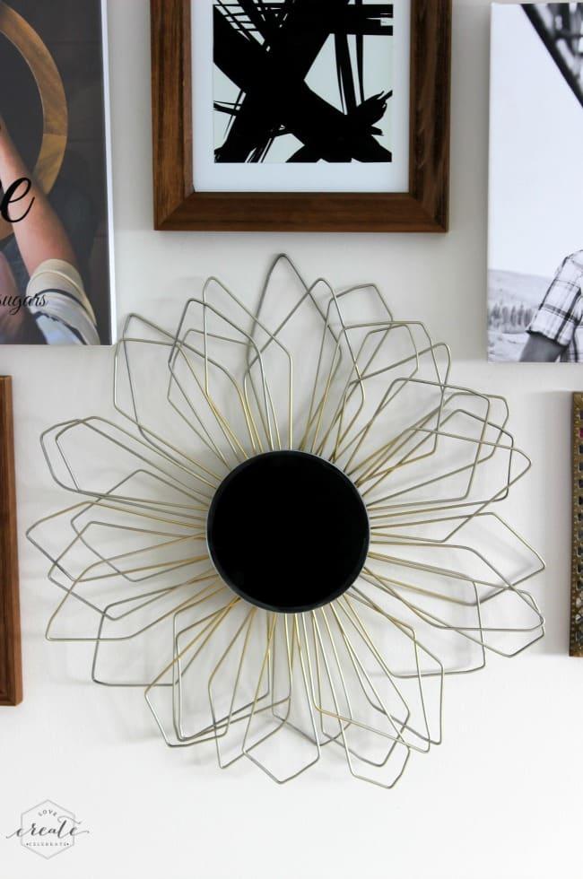Metal Sunburst Mirror Frame
