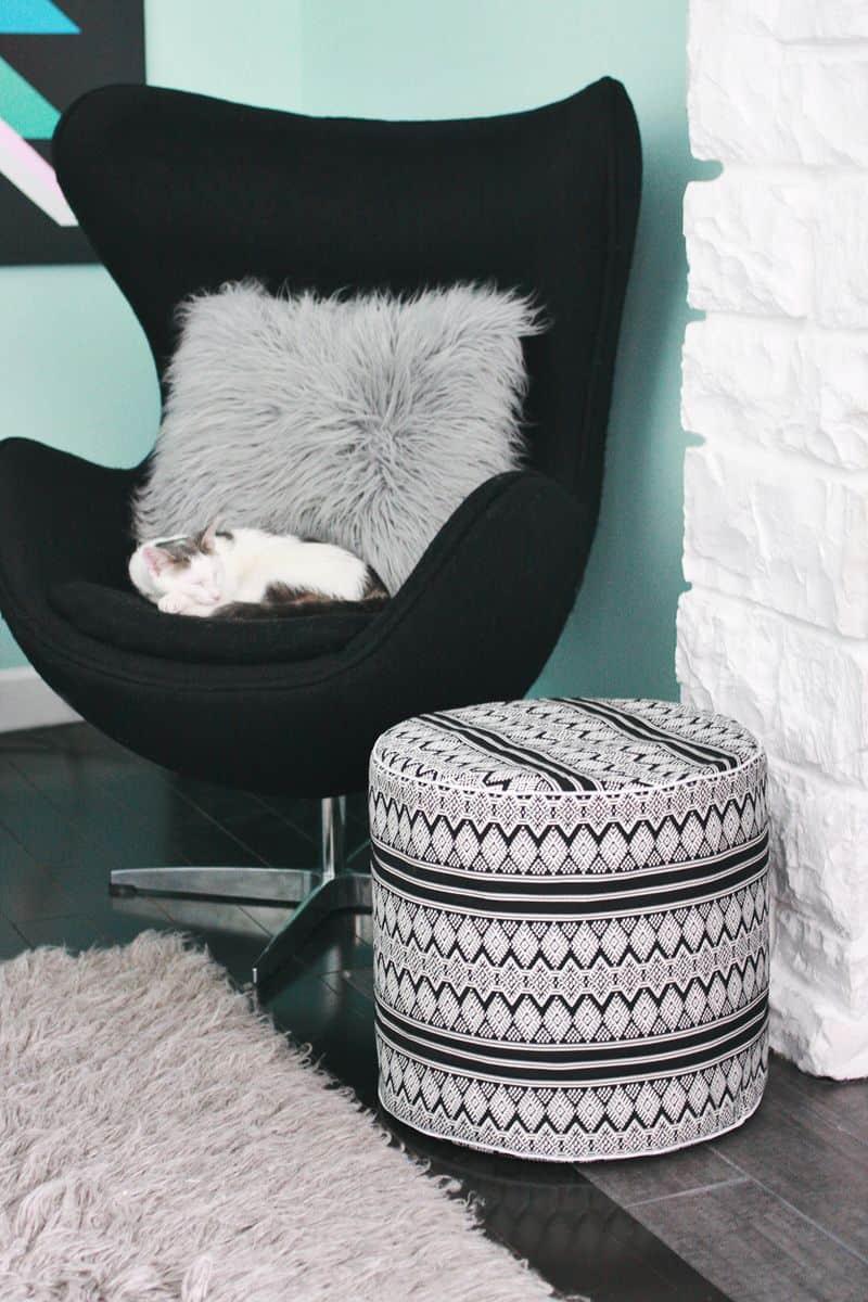 Tall Pillow Stool
