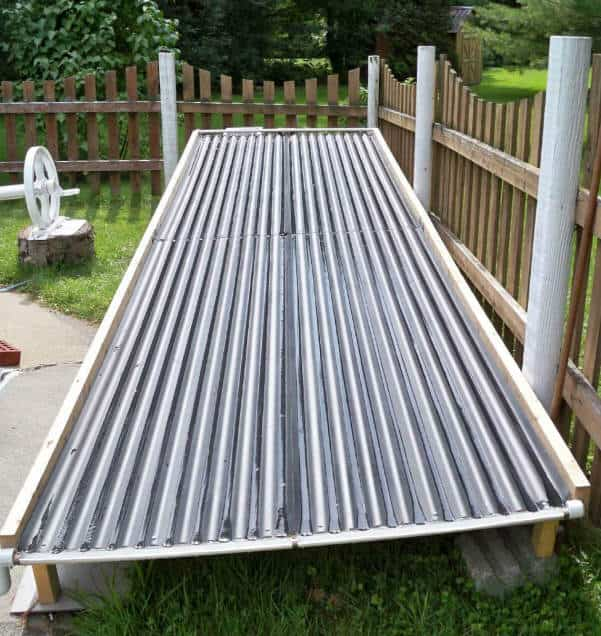 <strong>Corrugated Metal Roofing Solar Pool Heater System</strong>