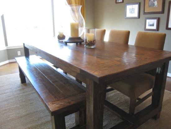 <strong>Hardwood Farmhouse Table</strong>
