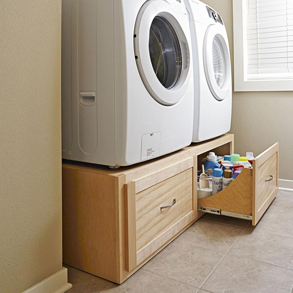 <strong>Tall Washer/Dryer Stand with Deep Drawers</strong>