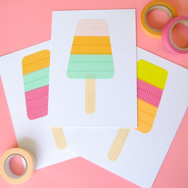 Washi Tape Popsicles