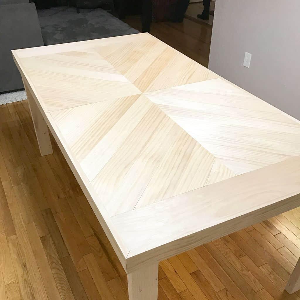 <strong>Folding Chevron Farmhouse Table</strong>