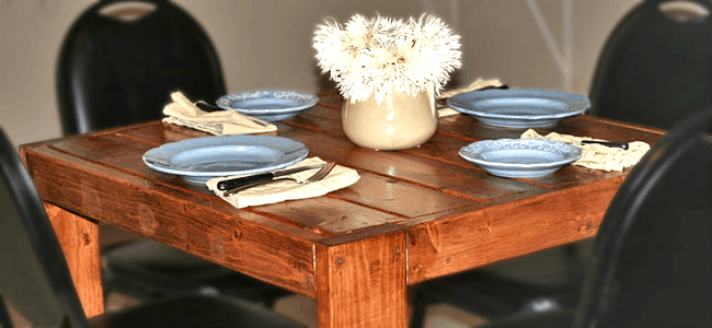 <strong>Modern Square Farmhouse Table</strong>