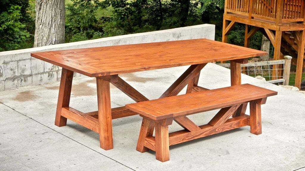 <strong>$250 Farmhouse Table and Benches</strong>