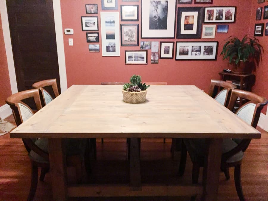 <strong>Large and Wide Square Farmhouse Table</strong>