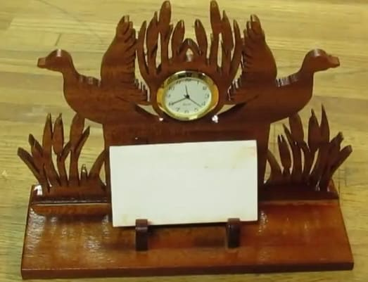 Time to Commit with This Decorative Clock Card Holder
