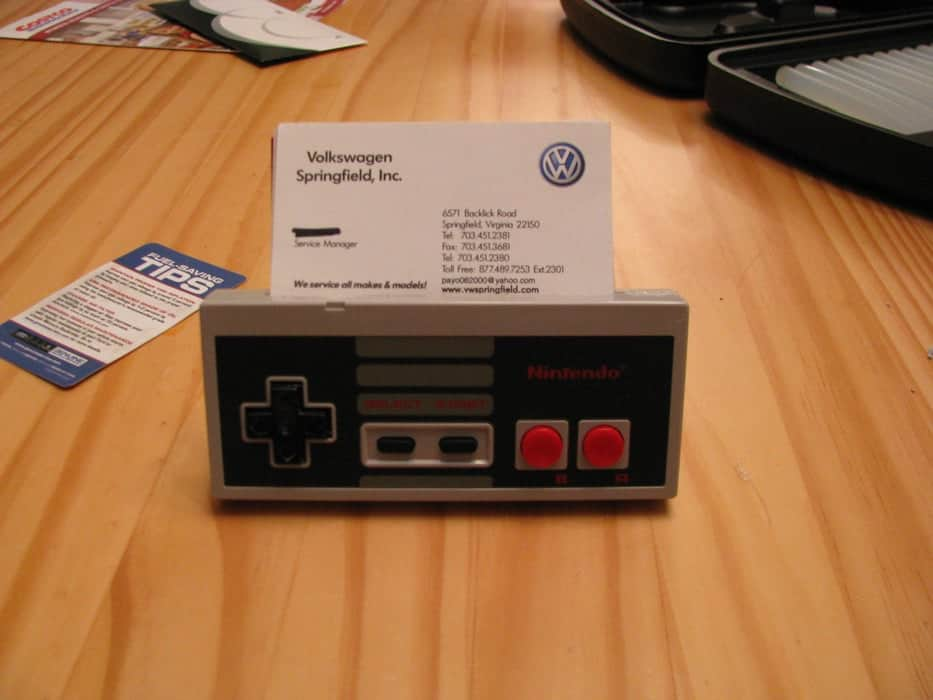Nintendo Controller Business Card Holder