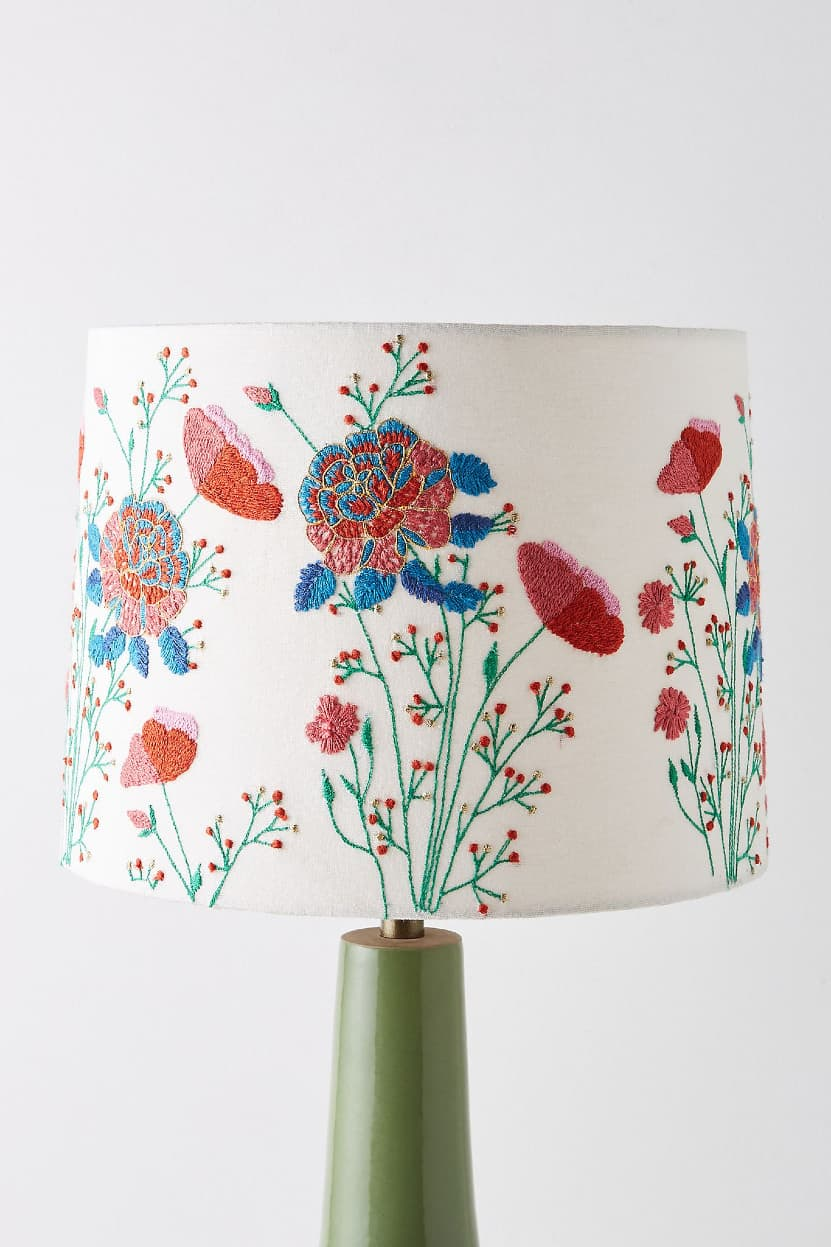 Swap Out Boring Lampshades for Summery Florals