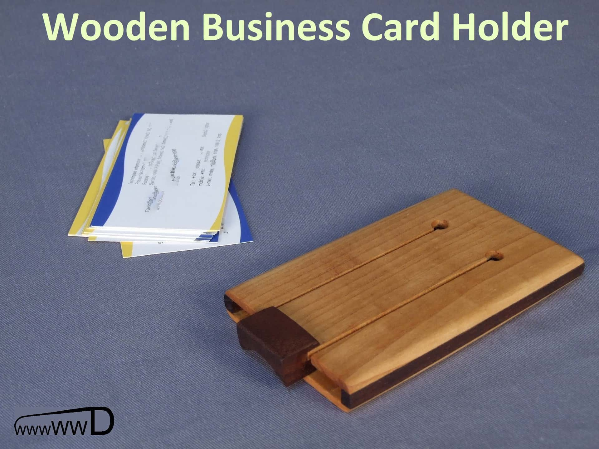 Make an Impression with this Wooden Business Card Wallet
