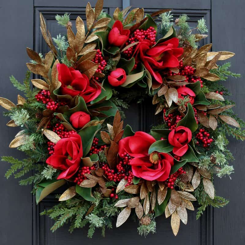 Get Floral With Your Wreath