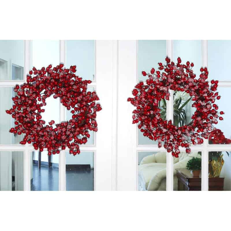 Try a Simple Iced Berry Wreath
